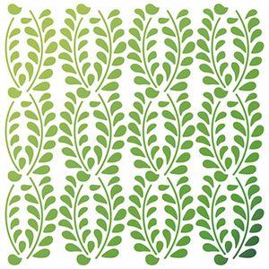 Stencil-Litoarte-20x20cm-Pintura-Simples-STXX-058-Textura-Folhas-Loro