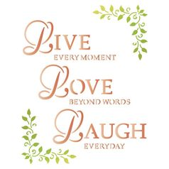 Stencil-Litoarte-25x20cm-Pintura-Simples-STR-034-Live-Love-Laugh