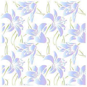 Stencil-Litoarte-20x20cm-Pintura-Simples-STXX-073-Estampa-de-Lirios