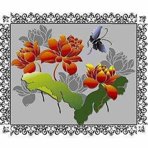Stencil-Litoarte-20x20cm-Pintura-Simples-STXX-074-Flor-de-Lotus