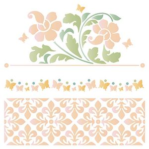 Stencil-Litoarte-20x20cm-Pintura-Simples-STXX-077-Flores-e-Azulejos