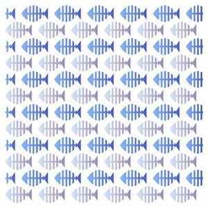 Stencil-Litoarte-20x20cm-Pintura-Simples-STXX-095-Estampa-de-Peixinhos