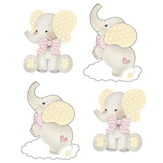 Aplique-Decoupage-Litoarte-APM3-260-em-Papel-e-MDF-3cm-Elefante-Bebe-Menina