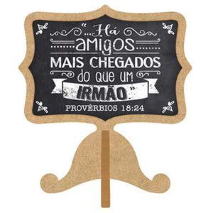 Aplique-Decoupage-Litoarte-APM8-1005-em-Papel-e-MDF-8cm-Tag-de-Mesa-Ha-Amigos