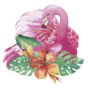 Aplique-Decoupage-Litoarte-APM8-1026-em-Papel-e-MDF-8cm-Flamingo-Tropical