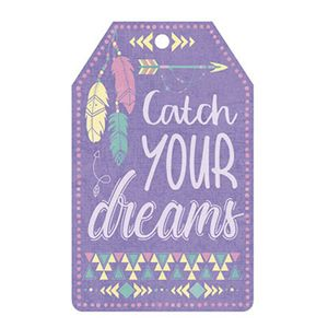Aplique-Decoupage-Litoarte-APM8-1053-em-Papel-e-MDF-8cm-Tag-Catch-Your-Dreams