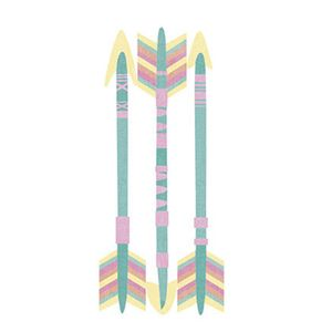 Aplique-Decoupage-Litoarte-APM8-1054-em-Papel-e-MDF-8cm-Tres-Flechas