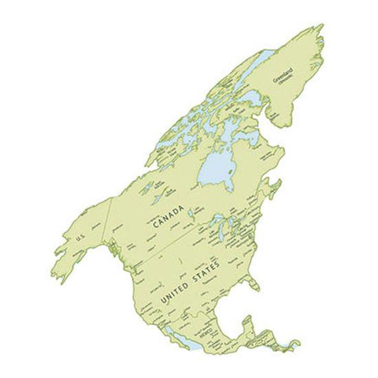 Aplique-Decoupage-Litoarte-APM8-1059-em-Papel-e-MDF-8cm-Mapa-da-America-do-Norte