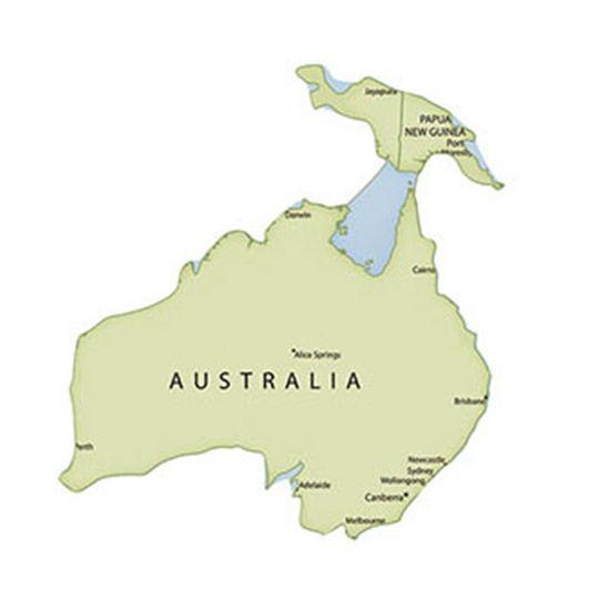 Aplique-Decoupage-Litoarte-APM8-1063-em-Papel-e-MDF-8cm-Mapa-da-Oceania