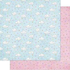 Papel-Scrapbook-Litoarte-305x305cm-SD-842-Nuvens-com-Chuva-de-Coracao