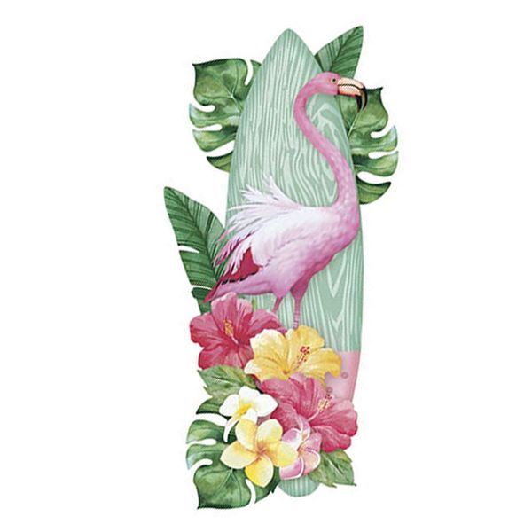 Aplique-Decoupage-Litoarte-APM8-1088-em-Papel-e-MDF-8cm-Prancha-de-Surf-e-Flamingo