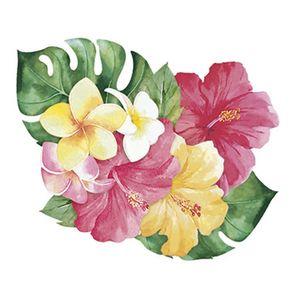Aplique-Decoupage-Litoarte-APM8-1089-em-Papel-e-MDF-8cm-Flores-Tropicais