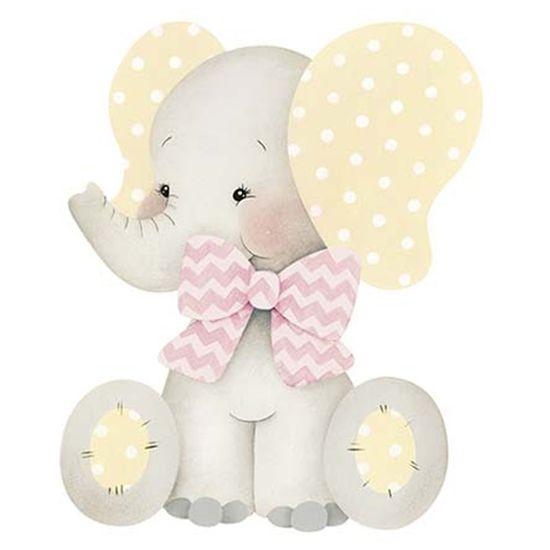 Aplique-Decoupage-Litoarte-APM8-963-em-Papel-e-MDF-8cm-Elefante-Bebe-Menina-com-Laco