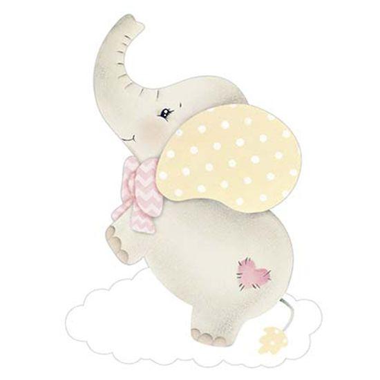 Aplique-Decoupage-Litoarte-APM8-964-em-Papel-e-MDF-8cm-Elefante-Bebe-Menina-com-Nuvem