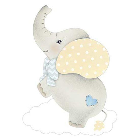 Aplique-Decoupage-Litoarte-APM8-967-em-Papel-e-MDF-8cm-Elefante-Bebe-Menino-Nuvem