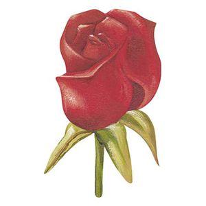 Aplique-Decoupage-Litoarte-APM8-982-em-Papel-e-MDF-8cm-Botao-de-Rosa-Vermelha