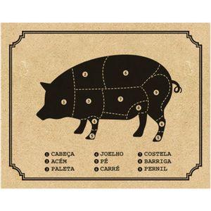 Placa-Decorativa-em-MDF-Impresso-Litoarte-DHPM-398-24x19cm-Cortes-do-Porco