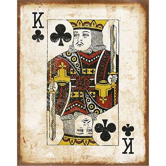 Placa-Decorativa-em-MDF-Litoarte-DHPM-401-24x19cm-Carta-Reis-de-Paus