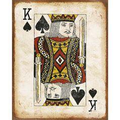 Placa-Decorativa-em-MDF-Litoarte-DHPM-403-24x19cm-Carta-Rei-de-Espada