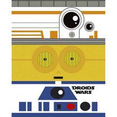 Placa-Decorativa-em-MDF-Litoarte-DHPM-411-24x19cm-Droids-Wars