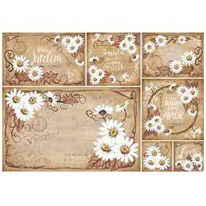 Papel-Decoupage-Litoarte-PD1-081-343x49cm-Margaridas-Fundo-Marrom-by-Lili-Negrao