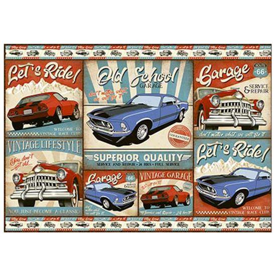 Papel-Decoupage-Litoarte-PD-979-343x49cm-Carros-Vintage