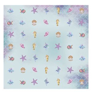 Papel-Scrapbook-com-Gliter-Litoarte-SG-007-305x305cm-Peixes-Fundo-do-Mar