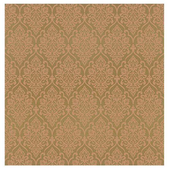 Papel-Scrapbook-Hot-Stamping-Litoarte-SH30-038-30x30cm-Floral-Cobre-Fundo-Marrom