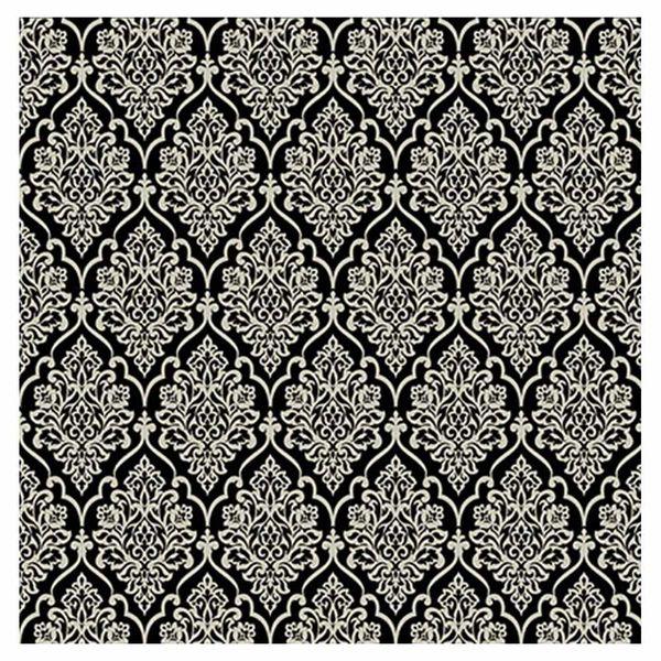 Papel-Scrapbook-Hot-Stamping-Litoarte-SH30-040-30x30cm-Floral-Prata-Fundo-Preto