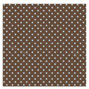 Papel-Scrapbook-Litoarte-305x305cm-SS-022-Marrom-com-Poa-Azul