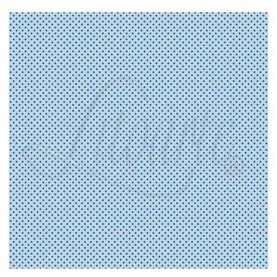 Papel-Scrapbook-Litoarte-305x305cm-SS-024-Azul-com-Poa-Marrom