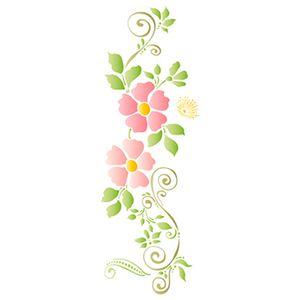 Stencil-Litoarte-42x17cm-Pintura-Simples-STG-070-Floral-e-Arabescos