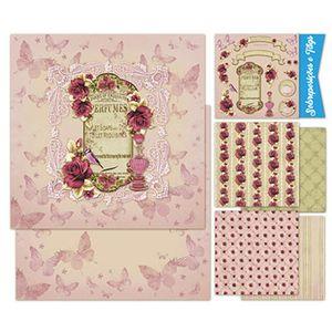 Kit-Papel-Scrap-Decor-Litoarte-KSD-006-305x305cm-6-Folhas-Sortidas-Rosas-e-Perfume