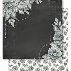 Papel-Scrapbook-Litoarte-SD1-059-305x305cm-Rosas-Preto-e-Branco-Vintage-by-Lili-Negrao