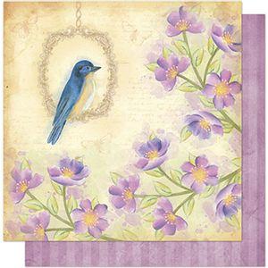 Papel-Scrapbook-Litoarte-SD1-064-305x305cm-Flores-Lilas-e-Passaro-by-Lili-Negrao