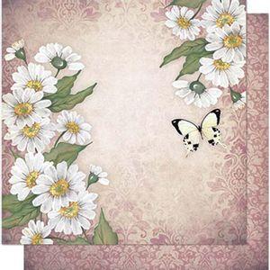 Papel-Scrapbook-Litoarte-SD1-068-305x305cm-Margaridas-e-Borboleta-by-Lili-Negrao