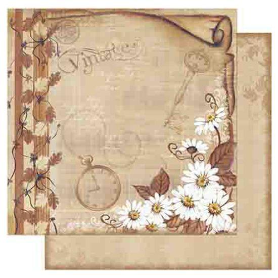 Papel-Scrapbook-Litoarte-SD1-070-305x305cm-Margaridas-Fundo-Marrom-by-Lili-Negrao
