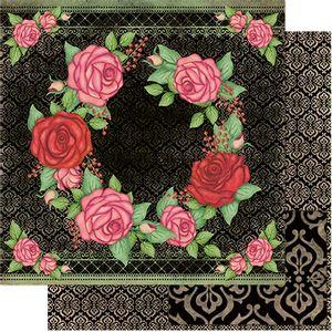 Papel-Scrapbook-Litoarte-SD1-075-305x305cm-Rosas-Fundo-Preto-by-Lili-Negrao