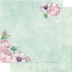 Papel-Scrapbook-Litoarte-SD1-078-305x305cm-Peonias-Fundo-Verde-by-Lili-Negrao