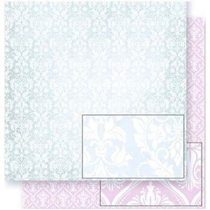 Papel-Scrapbook-Litoarte-SD-309-305x305cm-Arabescos-Verde-e-Rosa