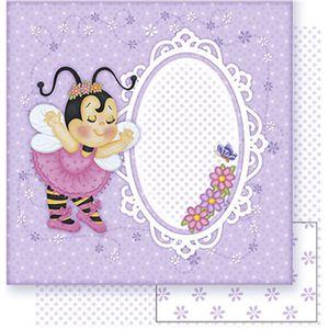 Papel-Scrapbook-Litoarte-SD-343-305x305cm-Abelha-Bailarina-Lilas