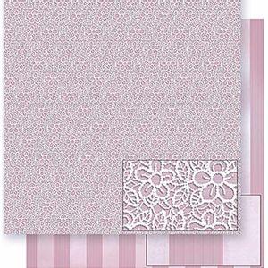 Papel-Scrapbook-Litoarte-SD-380-305x305cm-Flores-Renda-e-Listras