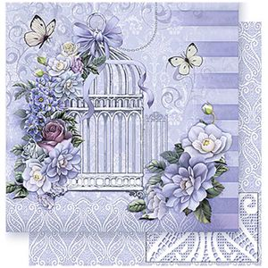 Papel-Scrapbook-Litoarte-SD-382-305x305cm-Gaiola-Branca-com-Flores
