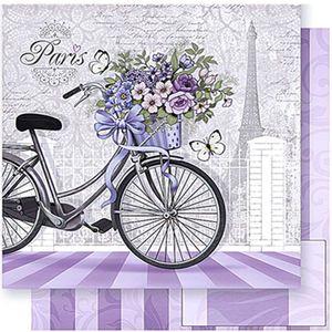 Papel-Scrapbook-Litoarte-SD-384-305x305cm-Bicicleta-com-Flores-Paris