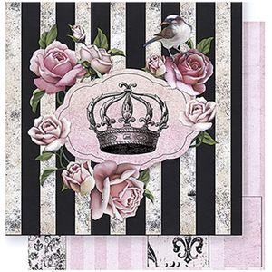 Papel-Scrapbook-Litoarte-SD-385-305x305cm-Rosas-com-Tag-e-Coroa