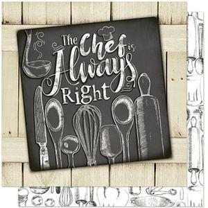 Papel-Scrapbook-Litoarte-SD-574-305x305cm-The-Chef-Cozinha