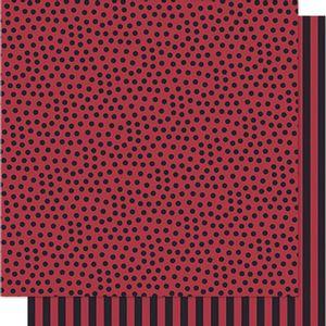 Papel-Scrapbook-Litoarte-SD-580-305x305cm-Poa-e-Listras-Preto-e-Vermelho