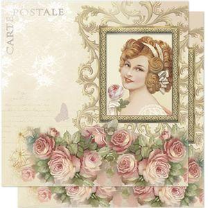 Papel-Scrapbook-Litoarte-SD-582-305x305cm-Dama-Vintage