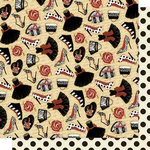Papel-Scrapbook-Litoarte-SD-587-305x305cm-Sapato-Bolsas-e-Rosas