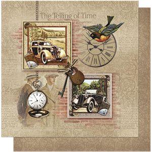 Papel-Scrapbook-Litoarte-SD-588-305x305cm-Vintage-Masculino-Carros